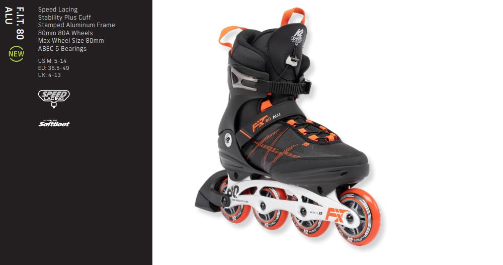 K2 Fit 80 Alu 2022 schwarz grau orange