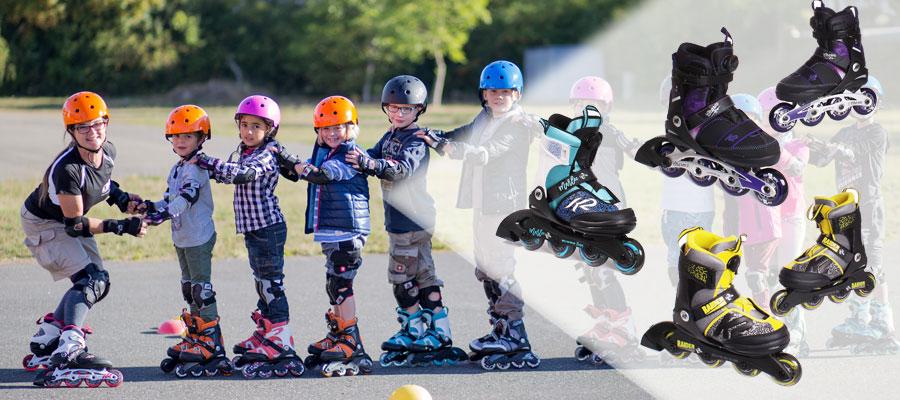 Kinder mit verstellbaren Kinder Inline Skates