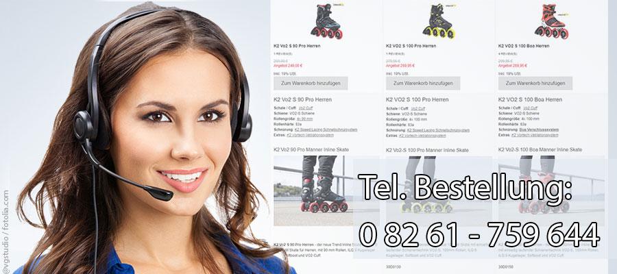 Telefonische Bestellung unter 0 82 61 - 759 644.