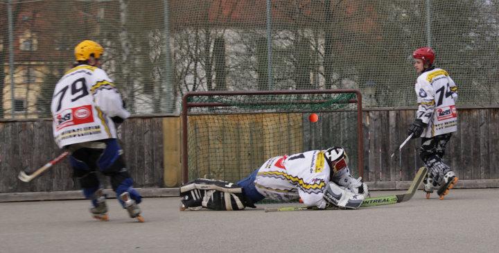 jugada típica en el hockey en línea